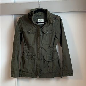 Abercrombie and Fitch Army Green Utility Jacket